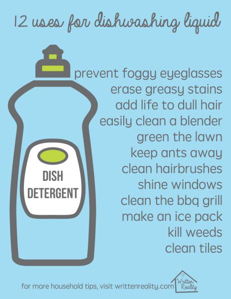 12 Uses for Dishwashing Soap