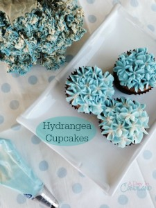 How to make hydrangea cupcakes like look like real flowers