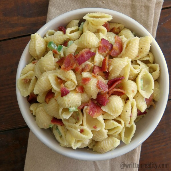 creamy bacon pasta salad