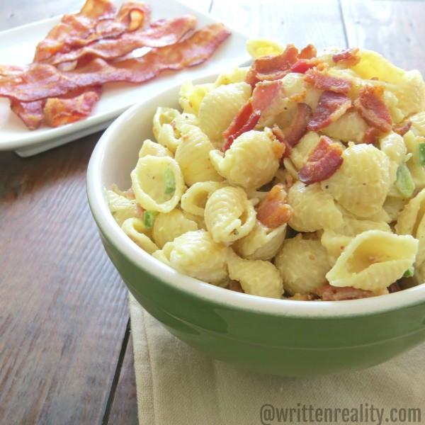 creamy bacon pasta salad