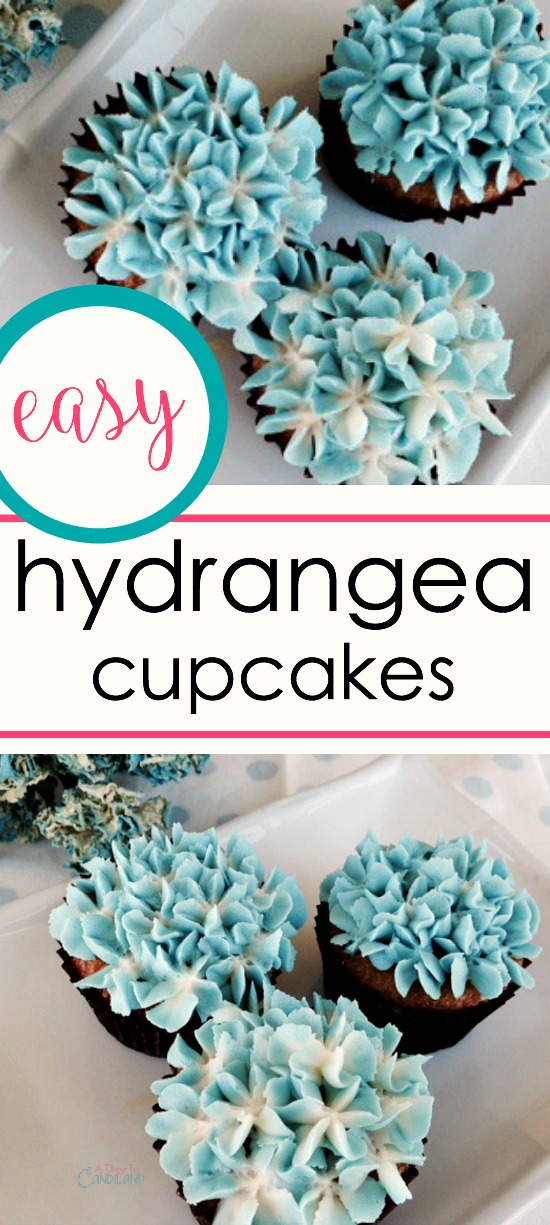 how to make hydrangea cupcakes