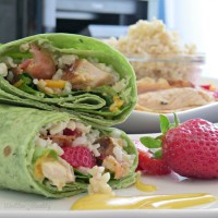 Honey Mustard Chicken Wraps