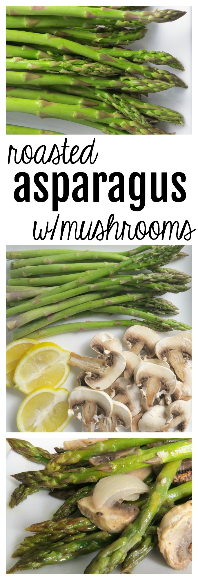 Roasted Asparagus with Mushrooms