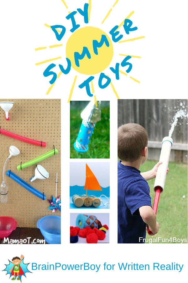 One dozen awesome summer toys to make. Let kids have the satisfaction of making their very own toys. Super learning activity that provides a fun toy to play with. They will love these.