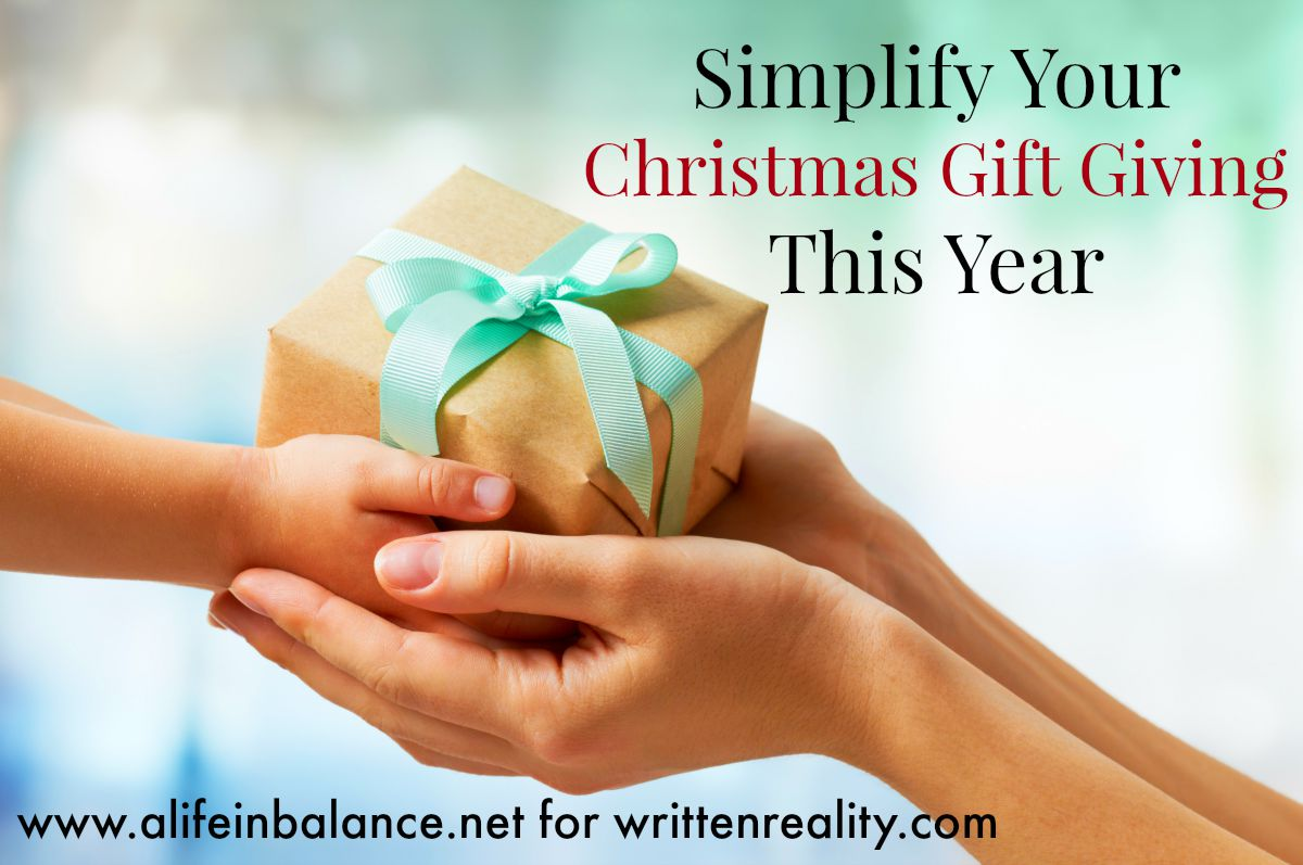 Simplify christmas gift giving written reality negle Images