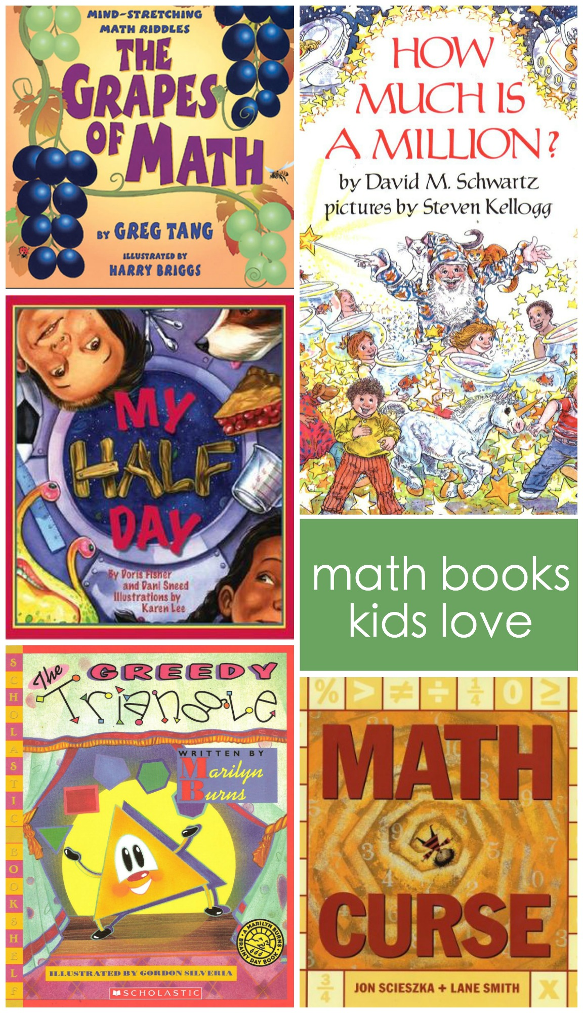 math books kids love