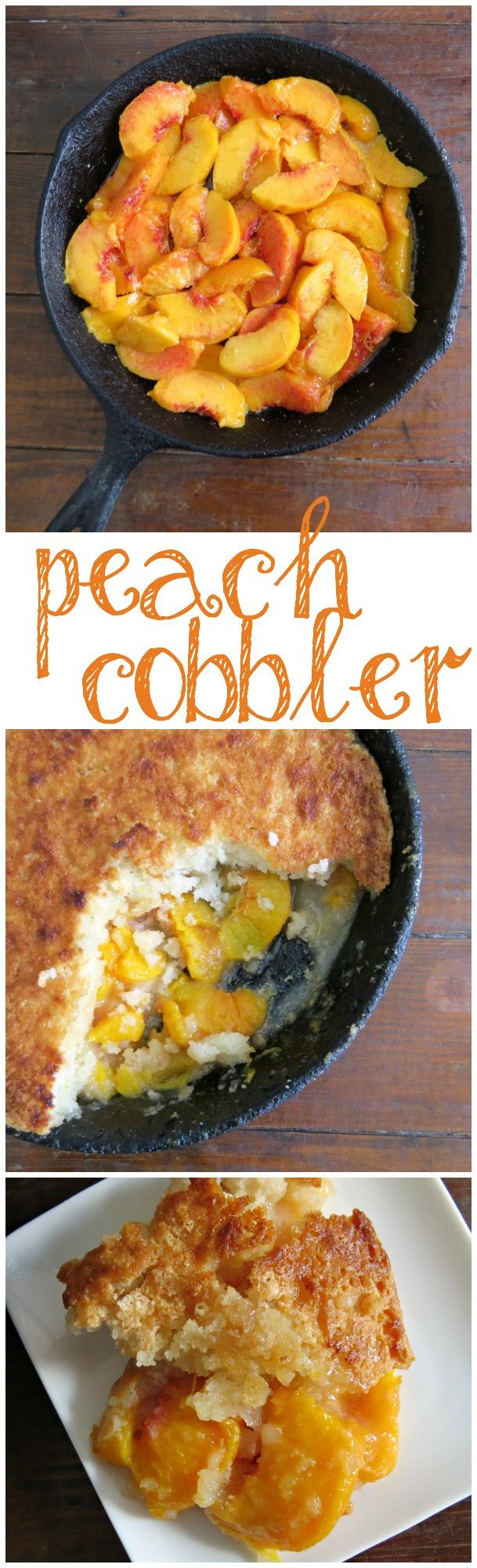 Easy Skillet Peach Cobbler