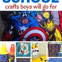 DIY Back to School Crafts guaranteed to get your boys interested in making a few projects. Make bags, pencils, notebooks and journals, water bottles and a neat LEGO bookmark.
