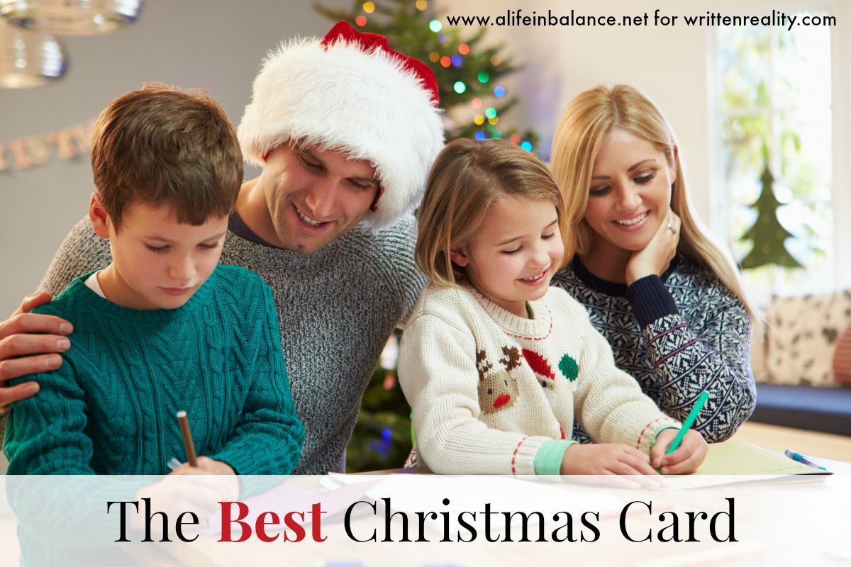 the best family christmas card  written reality