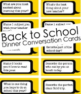 school conversation cards