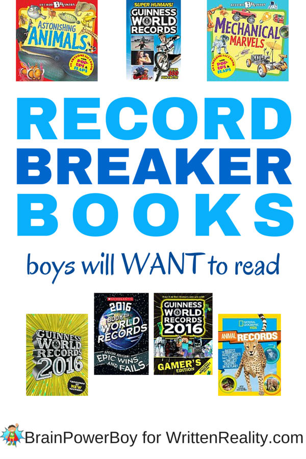 Try these Record Breaker Books if you want to get boys reading. I have seen boys spend hours reading these books - they can't get enough of them.