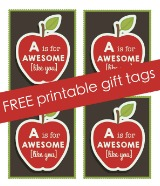 FREE Printable Apple Tag