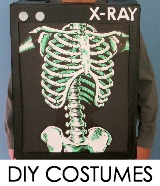halloween costumes with a box