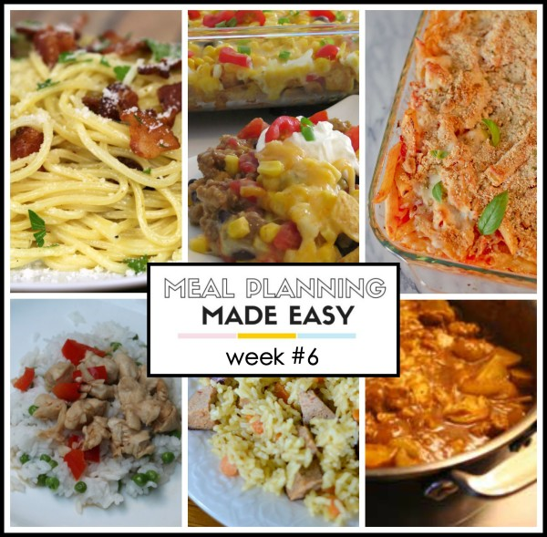 recipes for Meal Planning Made Easy