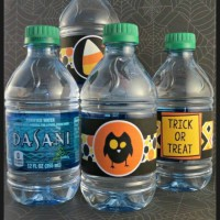 free printable Halloween water bottle labels