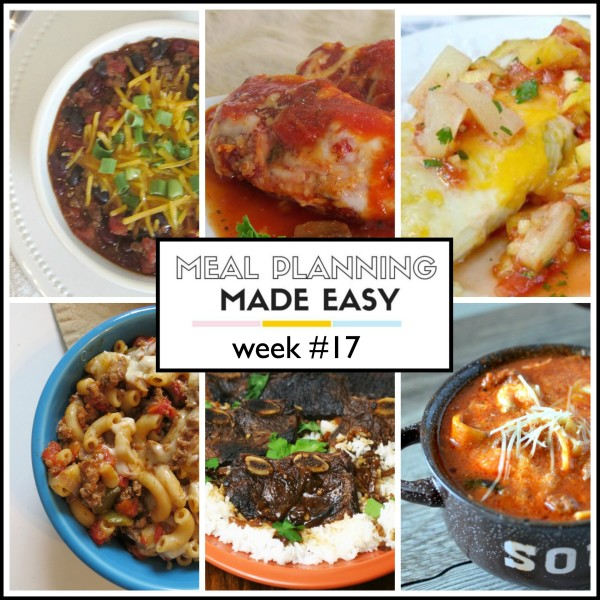 meal planning week 17