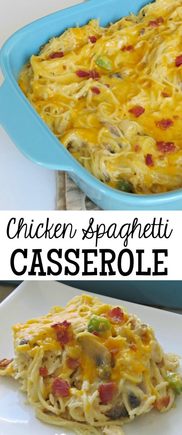Chicken Spaghetti Casserole Written Reality