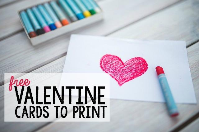 Free Valentine Card Printables