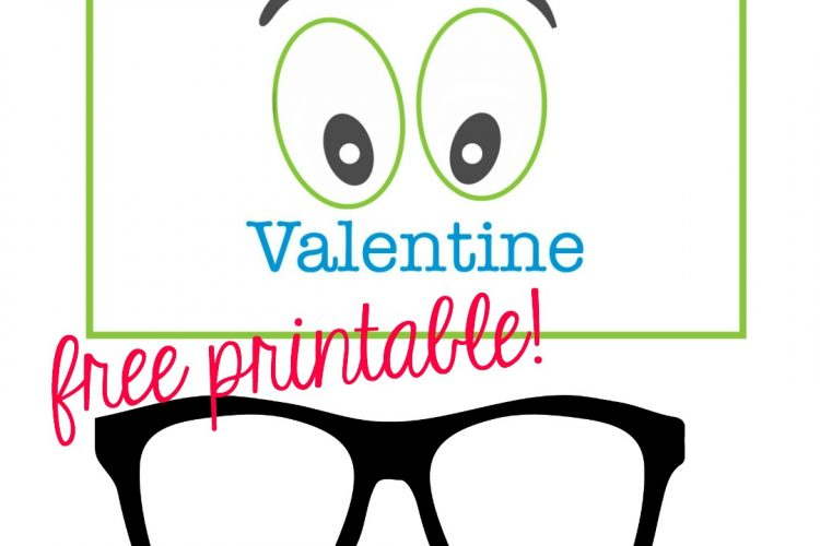 This Adorable Valentine With Glasses is FREE!
