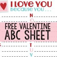 ABC Valentine Printablefreesheet
