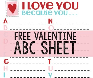 Celebrate Valentine's Day With a FREE ABC Printable