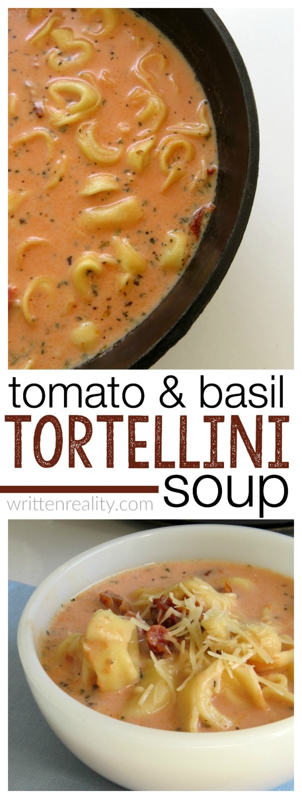 This recipe for Tomato Tortellini Soup is easy and delicious!