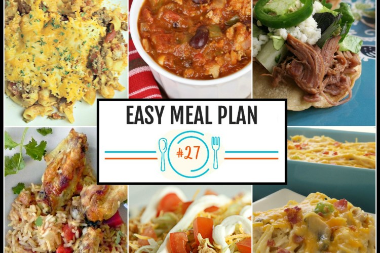 Easy Meal Plan Week #27