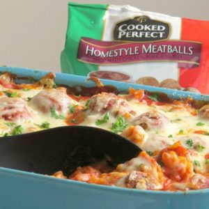 cheesy meatball casserole
