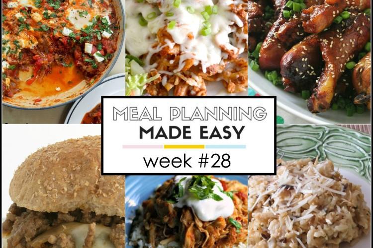 Easy Meal Plan Week #28