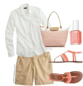 mom style fashion coral casual