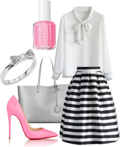 Mom Style Fashion in Pink