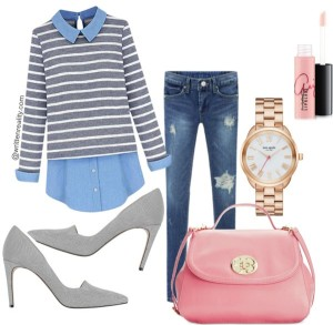 Mom Style Fashion Preppy Stripes