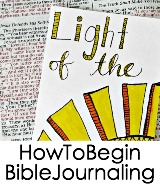 how to begin Bible journaling