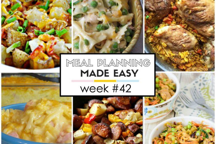 Easy Meal Plan Week #42