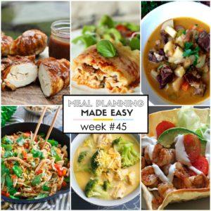 Easy Meal Plan Week #45