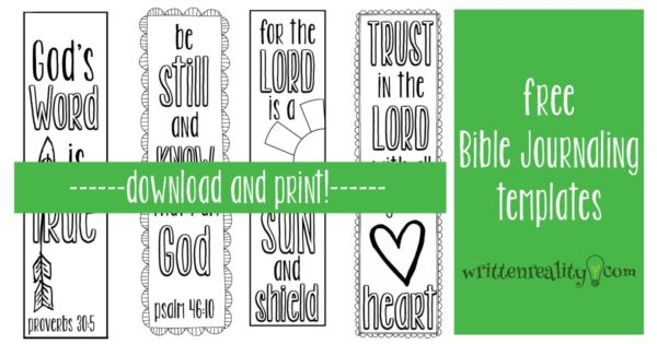free Bible journaling templates