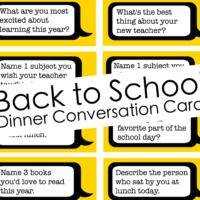 back to school conversation