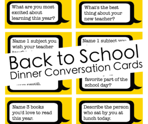School Talk Conversation Starters