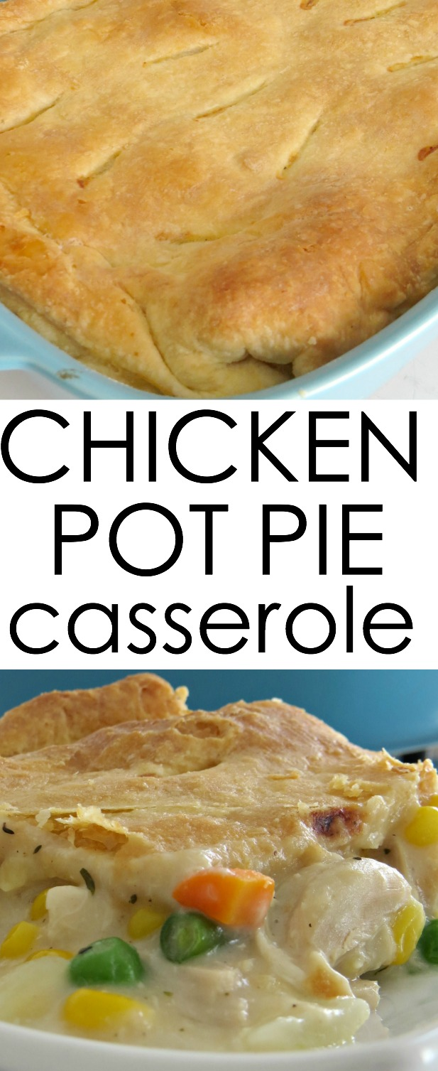 quick chicken pot pie casserole