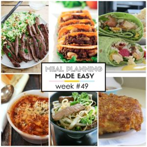Easy Meal Plan #49