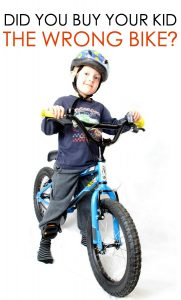 Will you start your kid on the wrong bike?