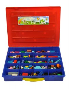 There Are 19 Individual Compartments For Sorting Bricks And Accessories,  And A Baseplate On Top For Building. Lego Storage