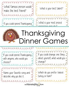Thanksgiving Dinner Games