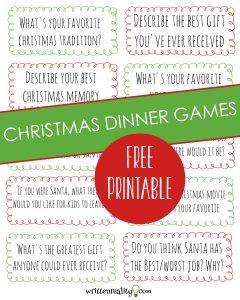christmas dinner games
