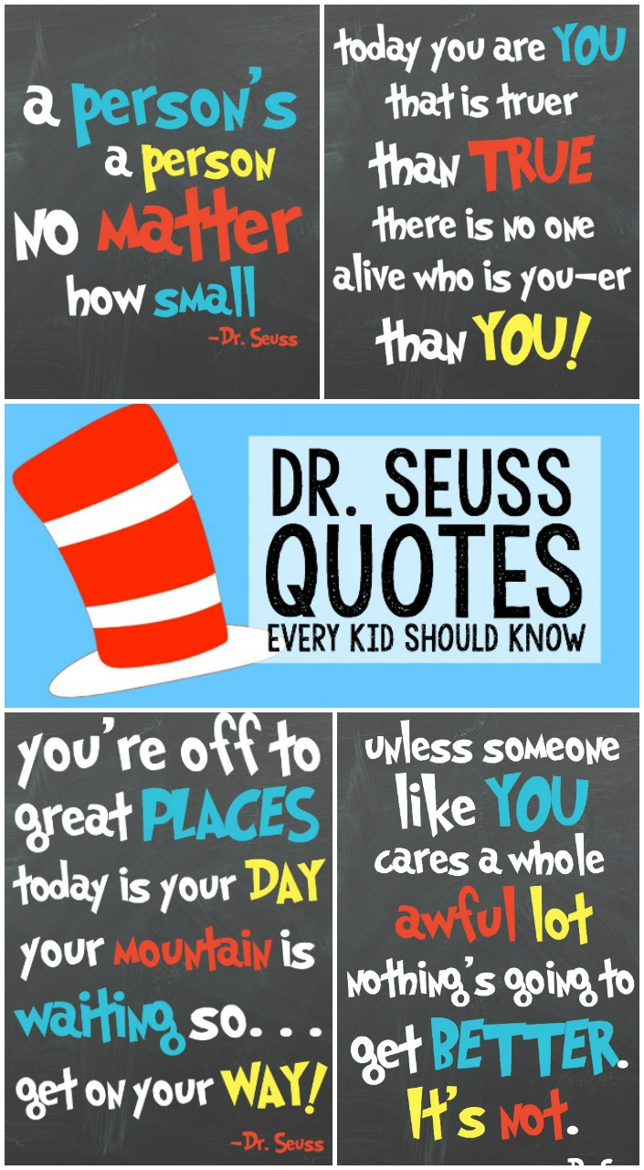 Inspirational Quotes For Kids Drseuss Quotes For Kids  Written Reality