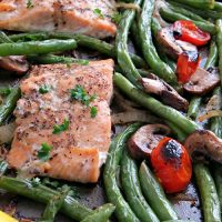 sheet pan salmon recipe