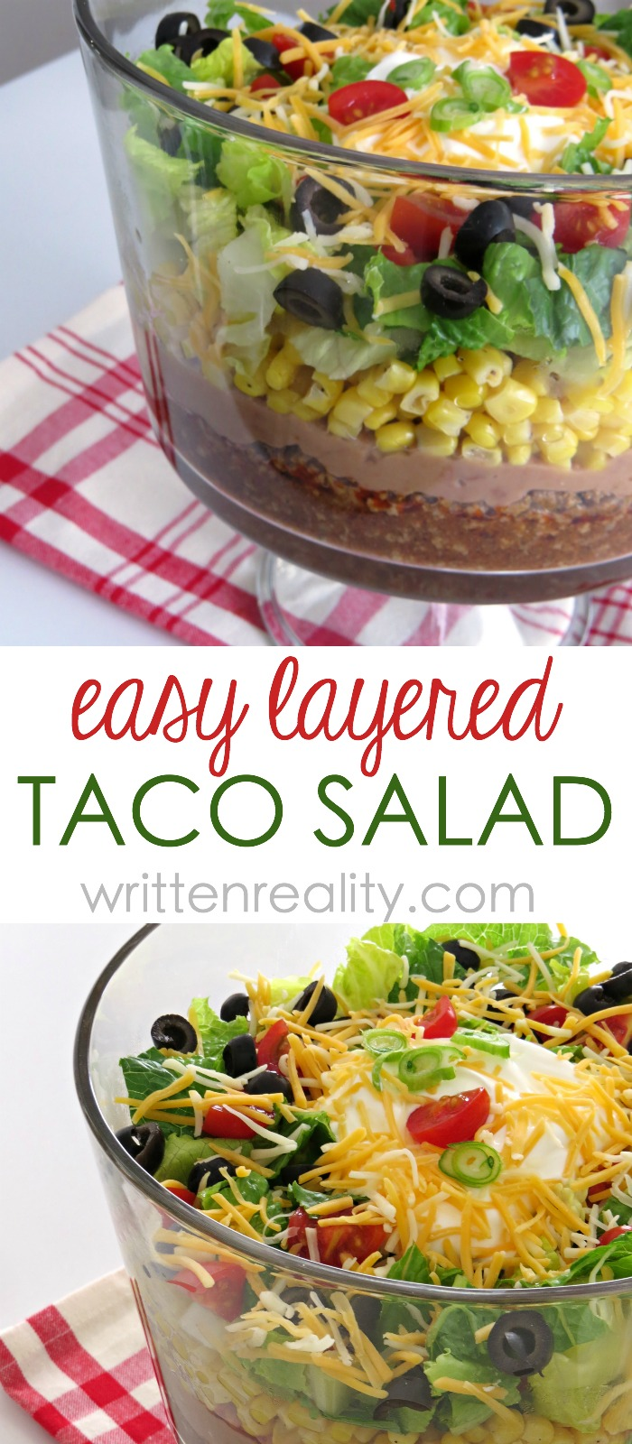 Quick And Easy Layered Taco Salad Recipe Written Reality