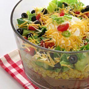 Quick and Easy Layered Taco Salad Recipe