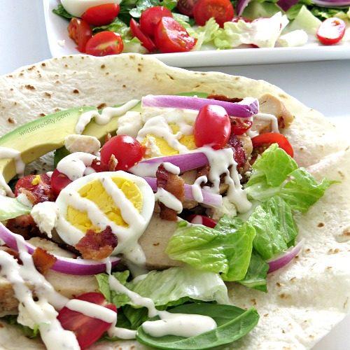 Easy and Delicious Cobb Salad Wrap Recipe