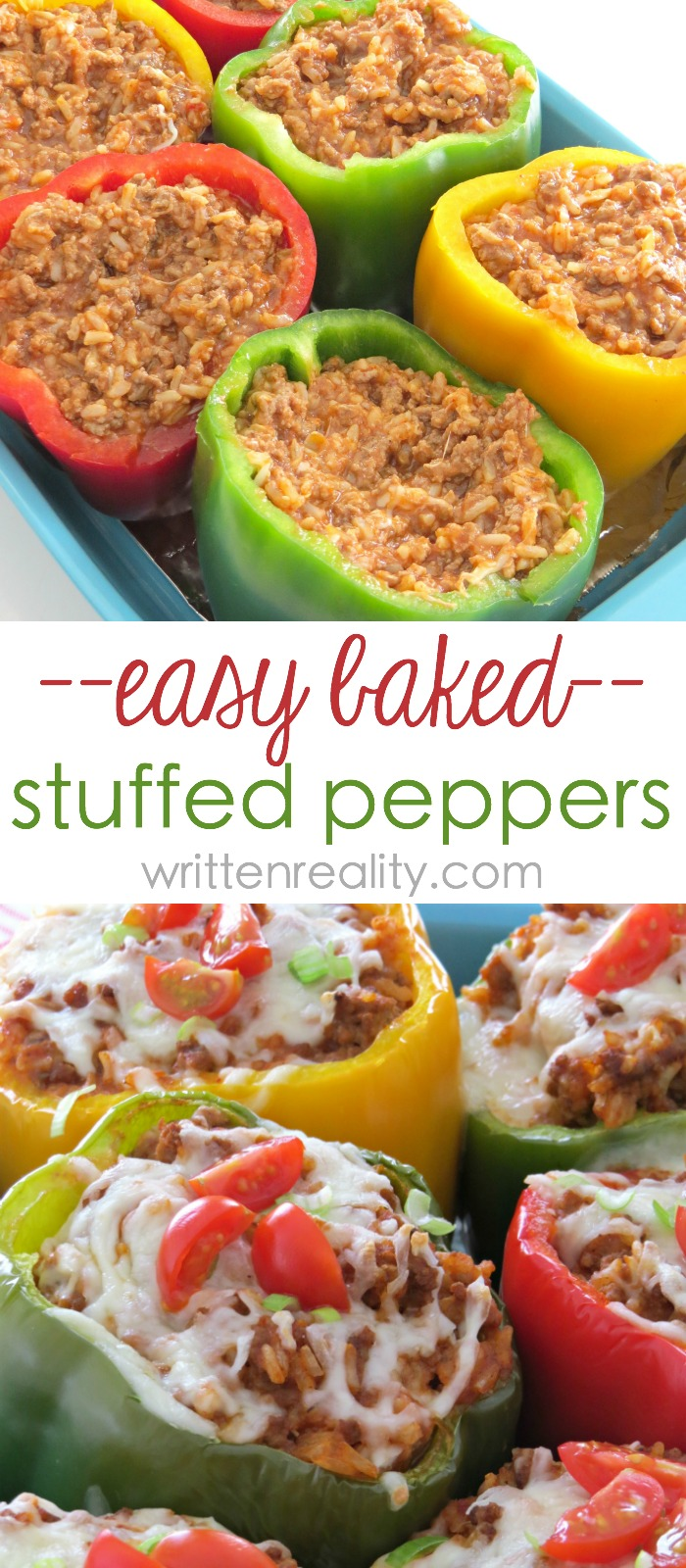 easy stuffed peppers easy stuffed bell pepper recipe written reality 30605